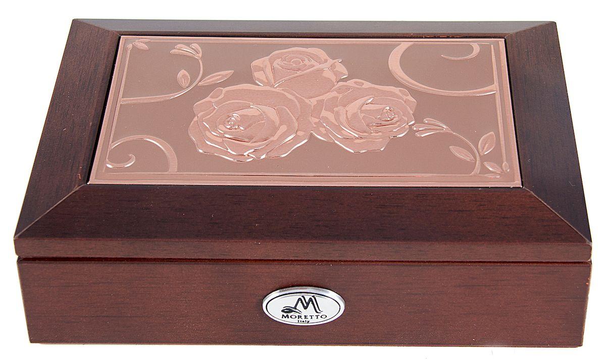Шкатулка для ювелирных украшений Moretto, 18 х 13 х 5 см. 139595 шкатулка для ювелирных украшений moretto 18 х 13 х 5 см 139522