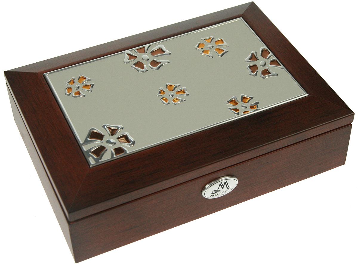 Шкатулка для ювелирных украшений Moretto, 18 х 13 х 5 см. 139518 шкатулка для ювелирных украшений moretto 18 х 13 х 5 см 139522