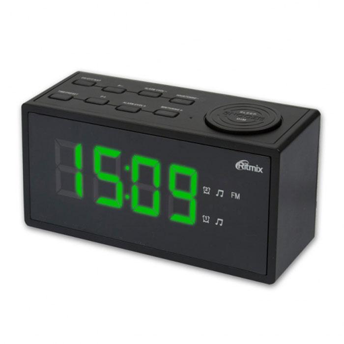 Ritmix RRC-1212, Black радиобудильник часы ritmix rrc 1212 red