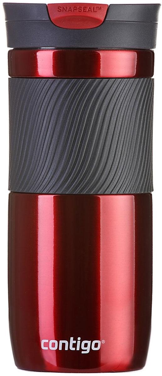 Термокружка Contigo Byron, цвет: красный, 470 мл термокружка contigo huron