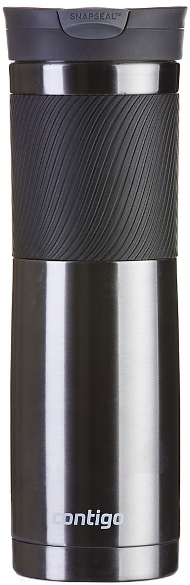 Термокружка Contigo Byron, цвет: серый, 720 мл термокружка 0 59 л contigo byron 0500 черный