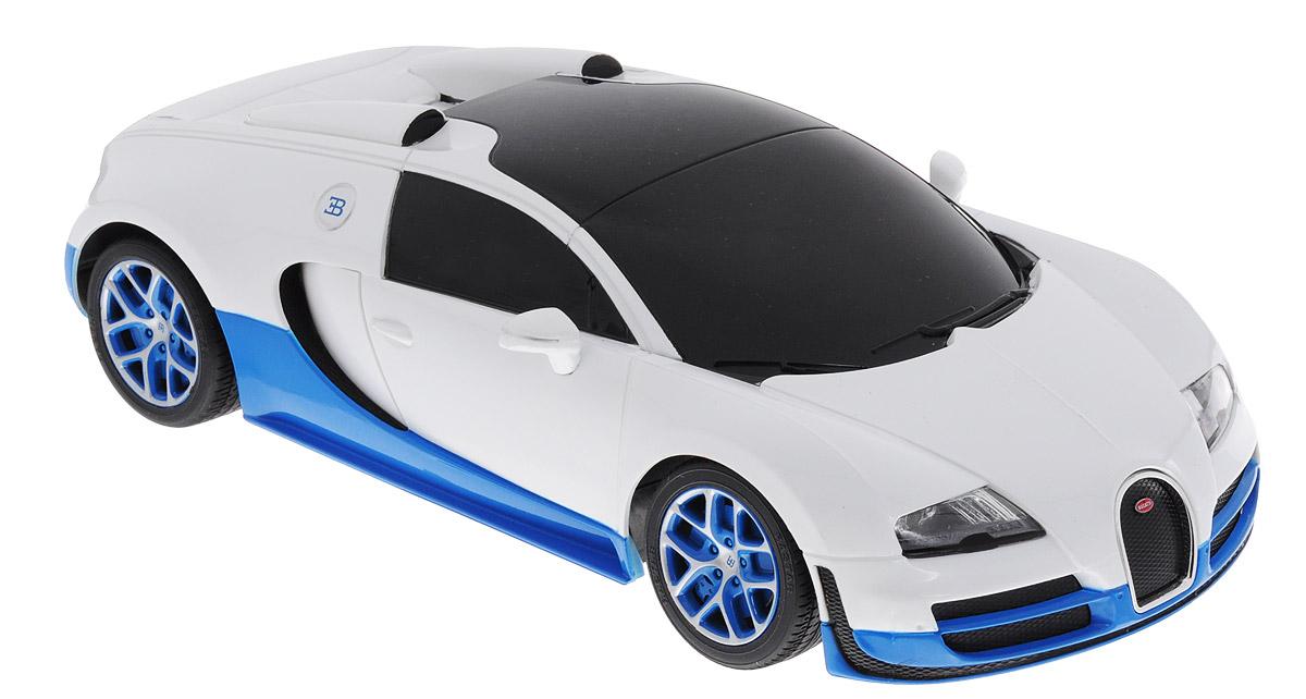 Rastar Радиоуправляемая модель Bugatti Veyron 16.4 Grand Sport Vitesse цвет белый синий масштаб 1:18 игрушечная техника и автомобили rastar 43000 1 14 lp700 4 rc roadstar