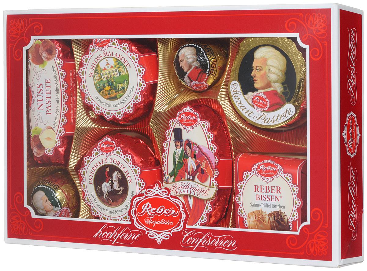 Reber Mozart подарочный набор шоколадных конфет, 285 г (коробка с окном)