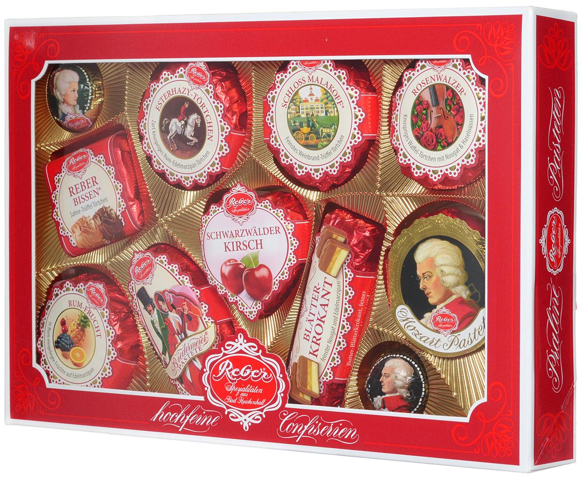 Reber Mozart подарочный набор шоколадных конфет, 380 г (коробка с окном)