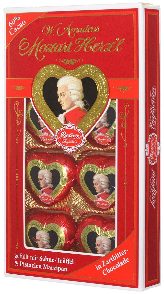 Reber Mozart Herz'l шоколадные конфеты, 80 г