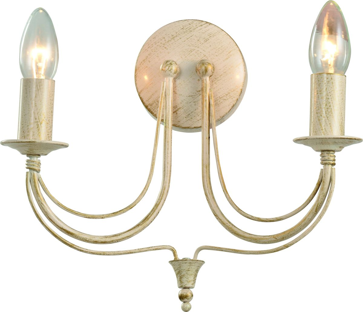 Светильник настенный Arte Lamp Maytone A6301AP-2WGA6301AP-2WGНастенный светильник Arte Lamp Maytone станет украшением вашей комнаты и оригинально дополнит интерьер. Изделие крепится к стене. Такой светильник отлично подойдет для освещения кабинета, столовой, спальни или гостиной.