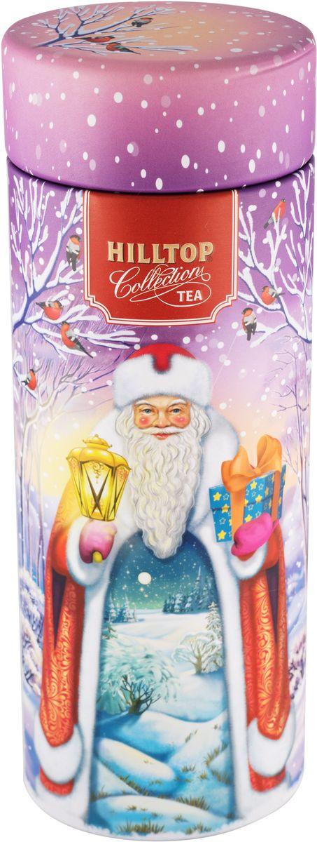Hilltop Праздничный вечер Земляника со сливками ароматизированный листовой чай, 100 г ароматизированный чёрный чай земляника со сливками 50 г