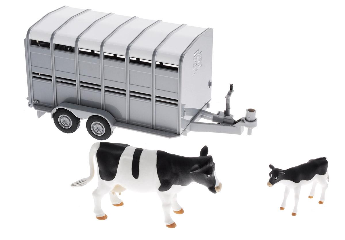 Tomy Трейлер для перевозки животных с коровой и теленком
