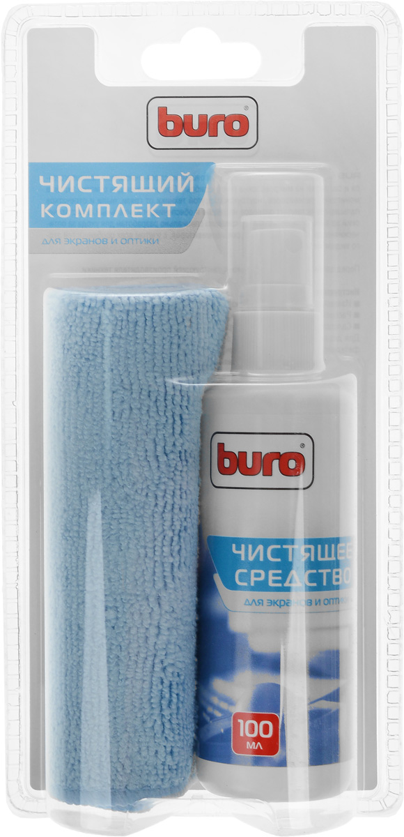 чистящий набор для экранов и оптики buro bu-s/mf, 100 мл