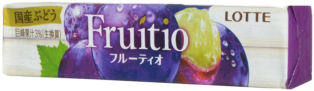 Lotte Fruitio Grape жевательная резинка, 21 г жевательная резинка со вкусом клубники вкусная помощь родился сам помоги другому 34 г