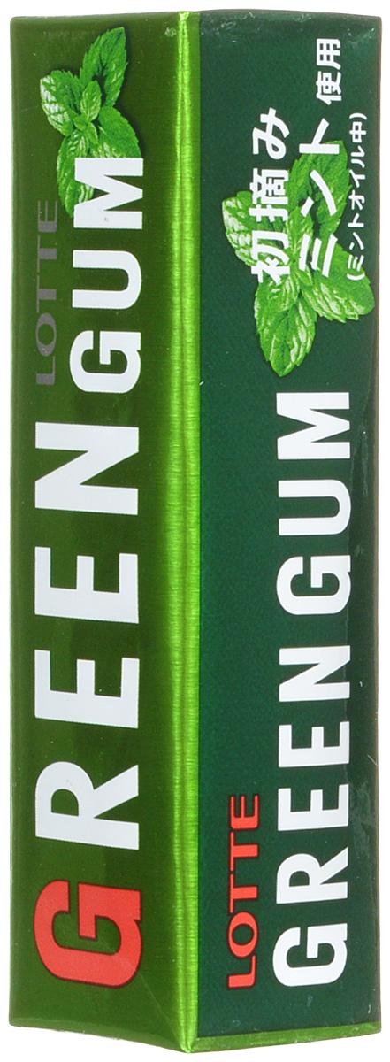 Lotte Green Gum жевательная резинка, 26 г жевательная резинка конфитрейд робокар поли со вкусом мяты 24 шт по 14 г