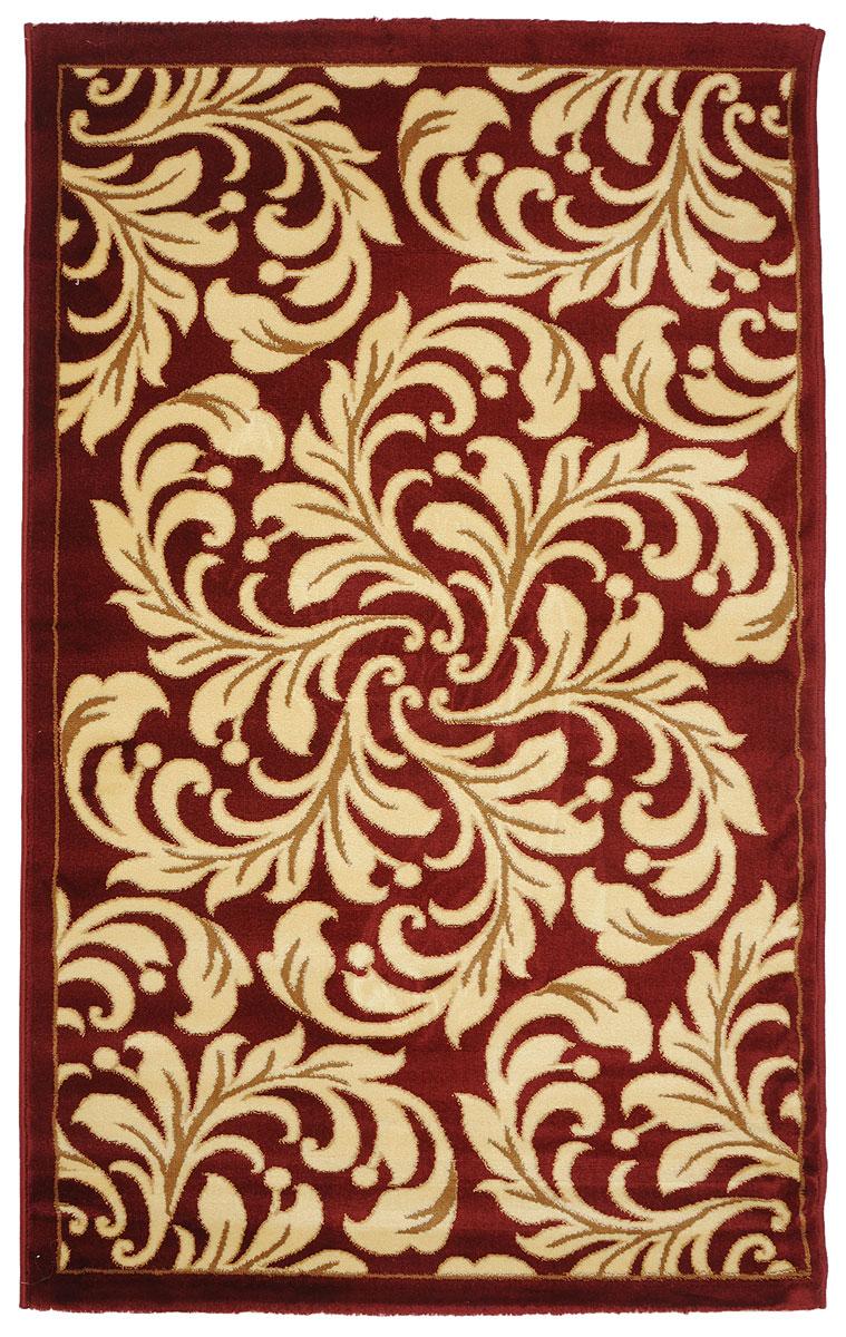 Ковер Kamalak Tekstil, прямоугольный, 100 x 150 см. УК-0326 ковер kamalak tekstil прямоугольный цвет кремовый 100 x 150 см ук 0400