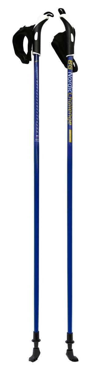 Палки для скандинавской ходьбы BG Nordic Challenge, цвет: синий, длина 115 см палки для скандинавской ходьбы vento nordic телескопические цвет зеленый 90 125 см 2 шт