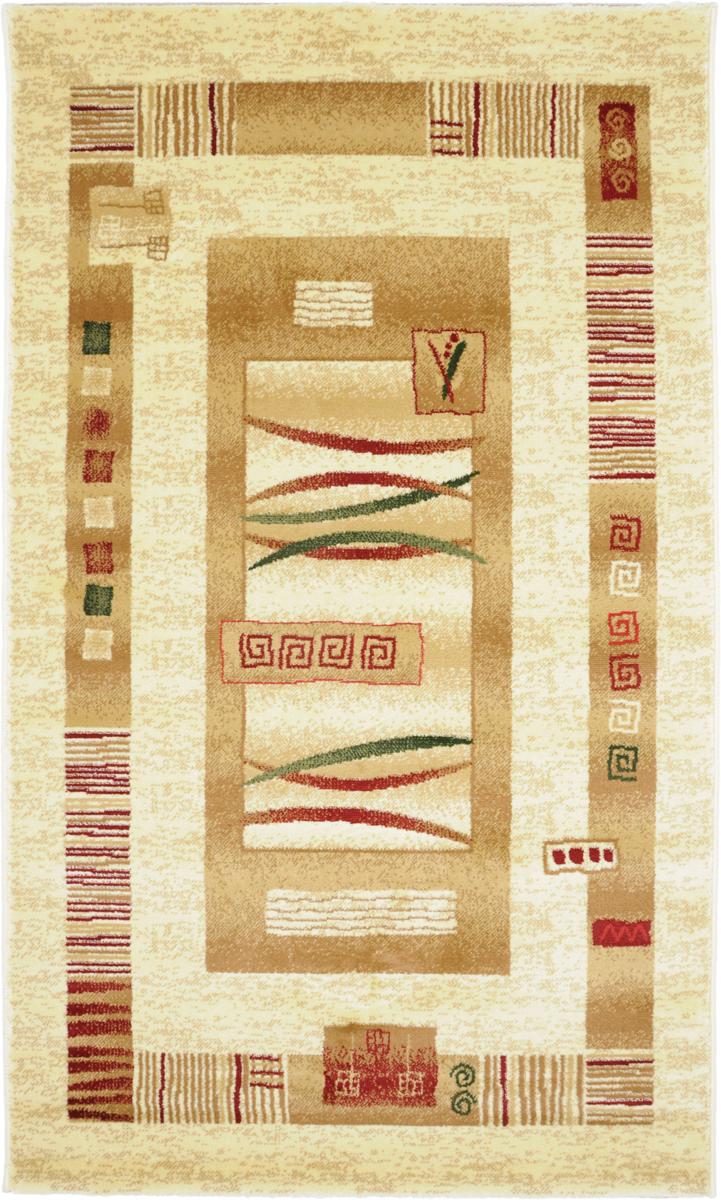 Ковер Kamalak Tekstil, прямоугольный, 100 x 150 см. УК-0044 ковер kamalak tekstil прямоугольный цвет кремовый 100 x 150 см ук 0400