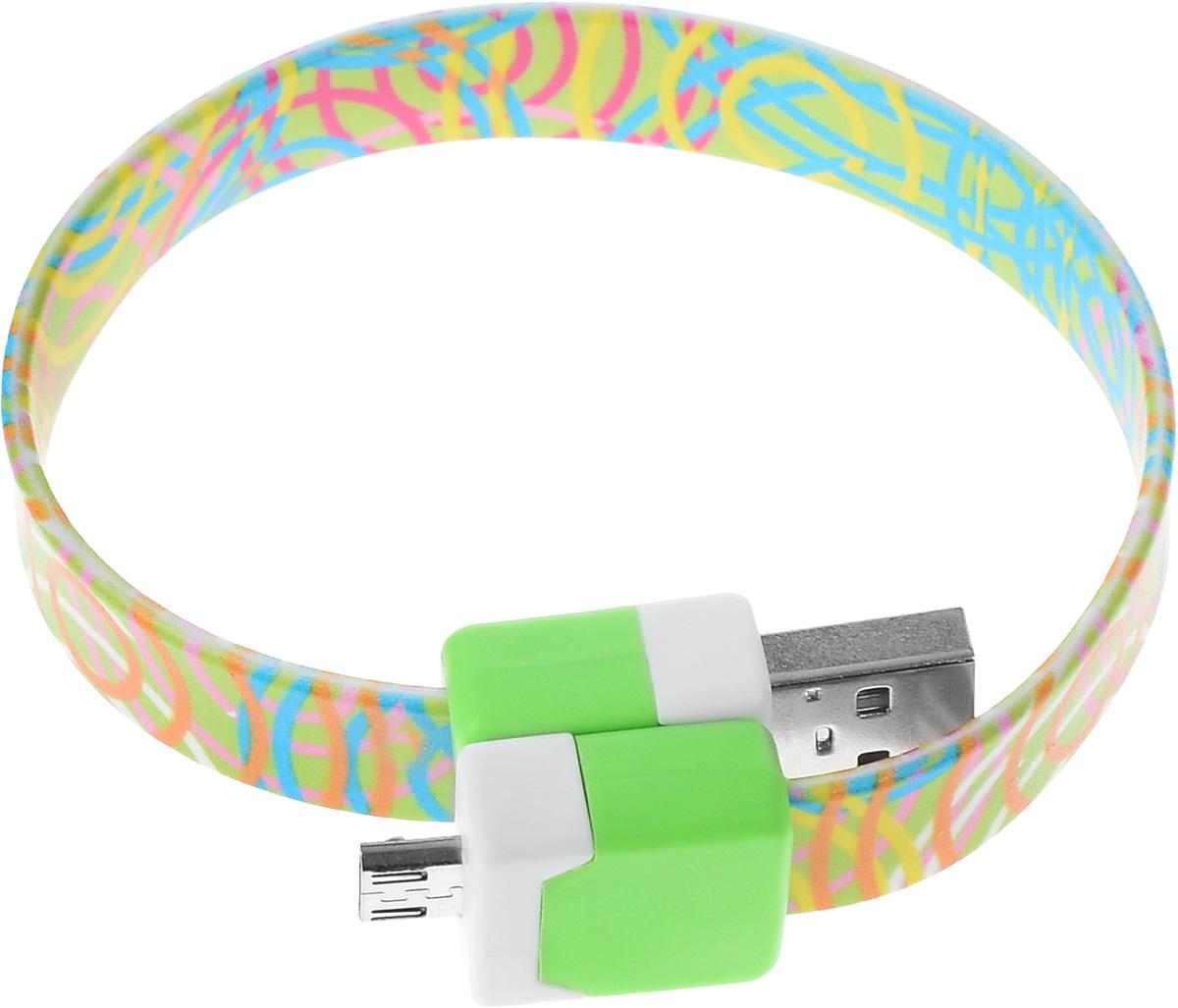 Фото - Кабель USB-micro USB 2.0, 25cм DVTech CB135 multicolor кабель dvtech cb402 plus usb psp зарядка обмен данными черный 1 2 м