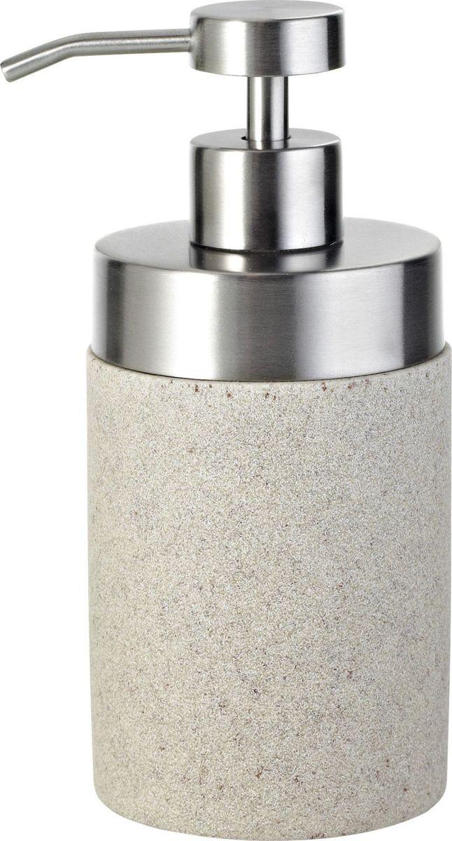 Дозатор для жидкого мыла Ridder Stone, цвет: бежевый стакан для ванной комнаты ridder stone цвет бежевый