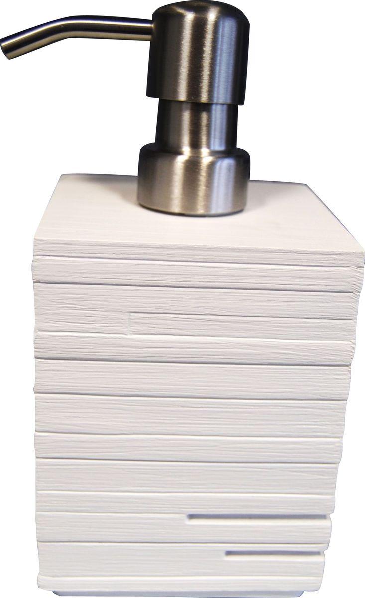 Дозатор для жидкого мыла Ridder Brick, цвет: белый, 430 мл дозатор для жидкого мыла ridder elegance цвет черный