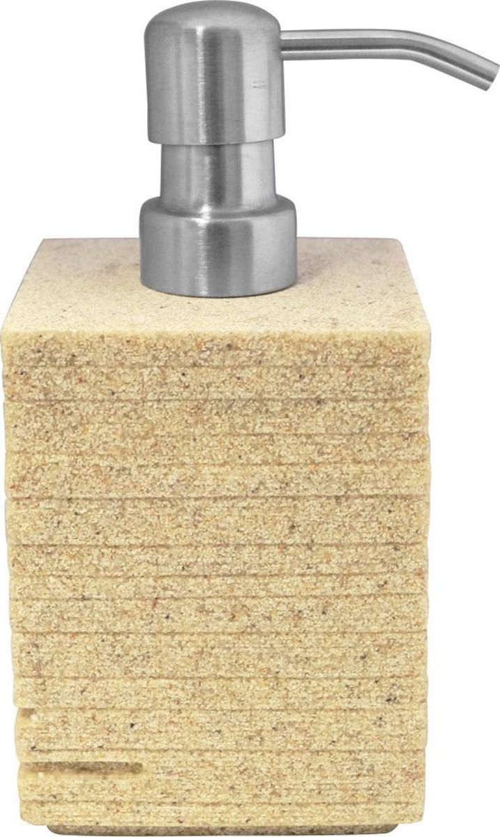 """Дозатор для жидкого мыла Ridder """"Brick"""", цвет: бежевый, 430 мл"""