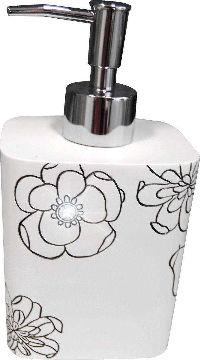 Дозатор для жидкого мыла Ridder Diamond, цвет: белый стакан для ванной комнаты ridder diamond цвет белый
