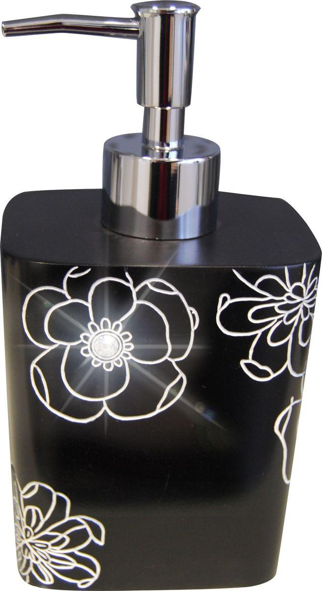 Дозатор для жидкого мыла Ridder Diamond, цвет: черный дозатор для жидкого мыла ridder elegance цвет черный