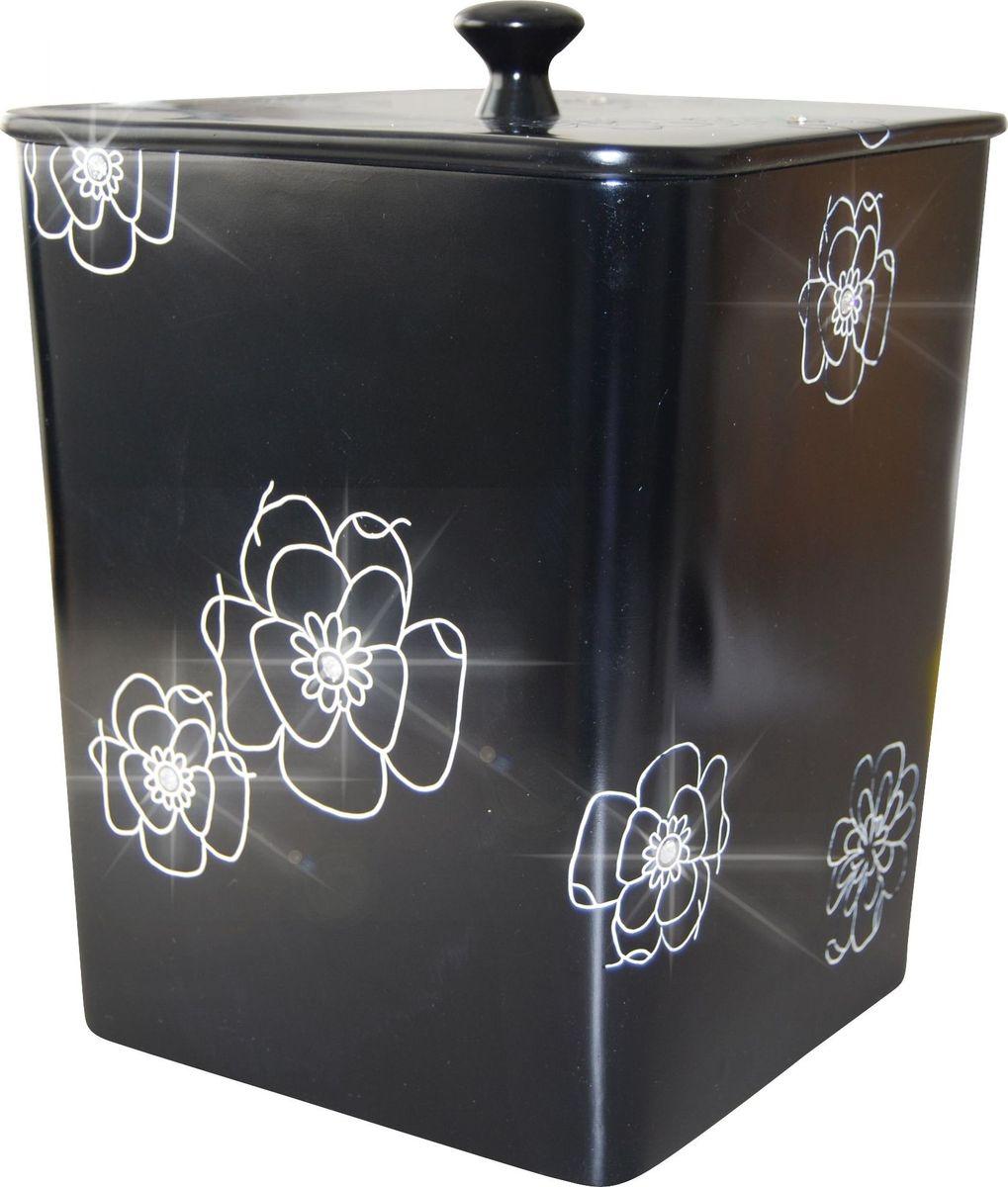 """Контейнер для мусора Ridder """"Diamond"""", цвет: черный, 8,5 л"""