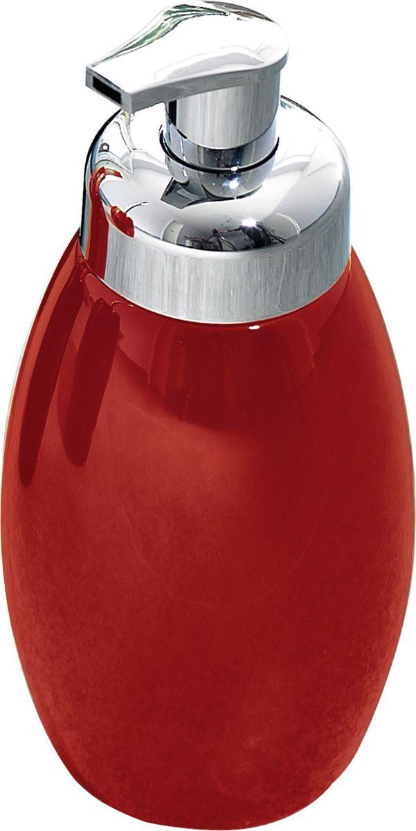 Дозатор для жидкого мыла Ridder Shiny, цвет: красный дозатор для жидкого мыла ridder elegance цвет черный