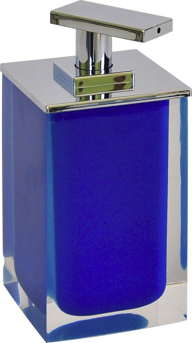 Дозатор для жидкого мыла Ridder Colours, цвет: синий, 300 мл дозатор для жидкого мыла vanstore wiki white цвет белый 300 мл