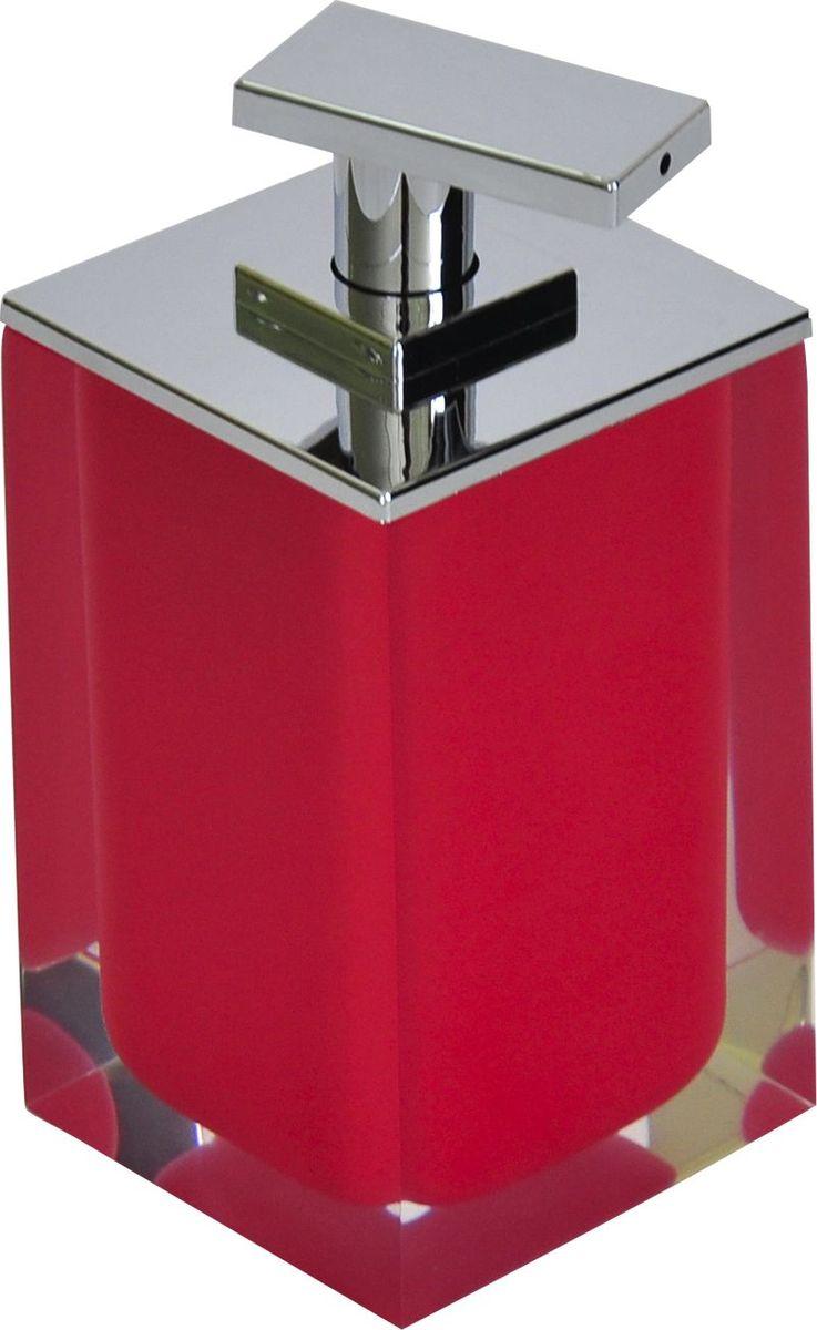 Дозатор для жидкого мыла Ridder Colours, цвет: красный, 300 мл