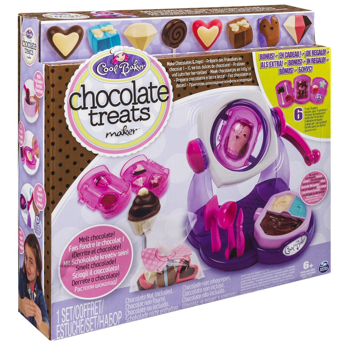 Cool Baker Набор для лепки Фабрика шоколадных конфет игровой набор cool baker фабрика шоколадных конфет