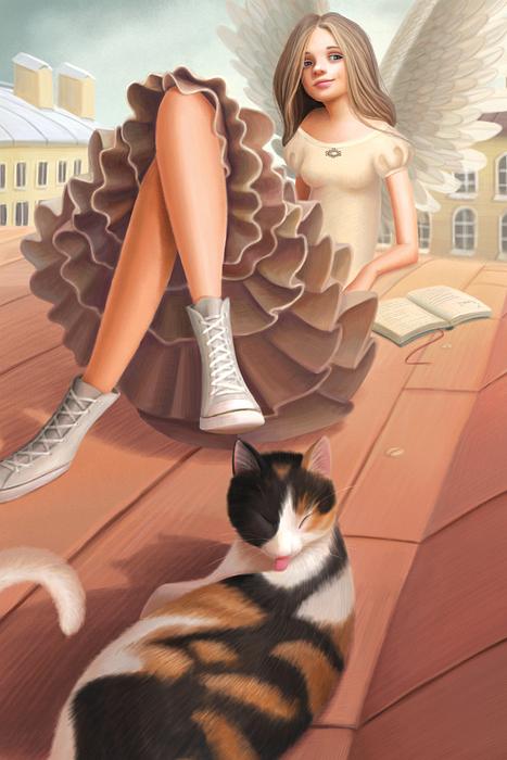 Открытка Солнечный остров. Автор Варя Колесникова открытка поехали из серии бессмысленные котики автор татьяна перова