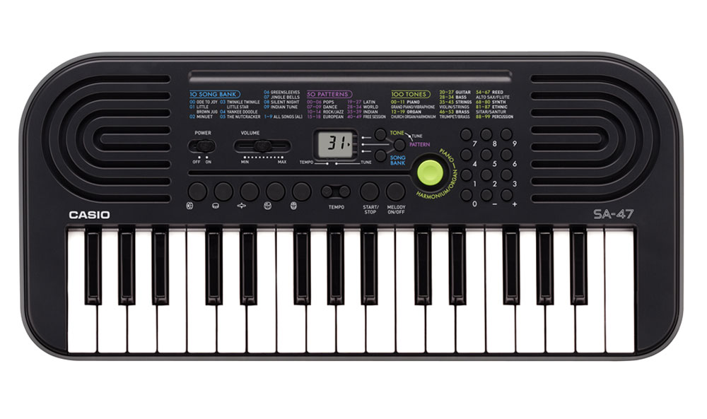 Casio SA-47, Gray цифровой синтезатор синтезатор casio sa 77 44 мини клавиши 5 ударных пэдов серый