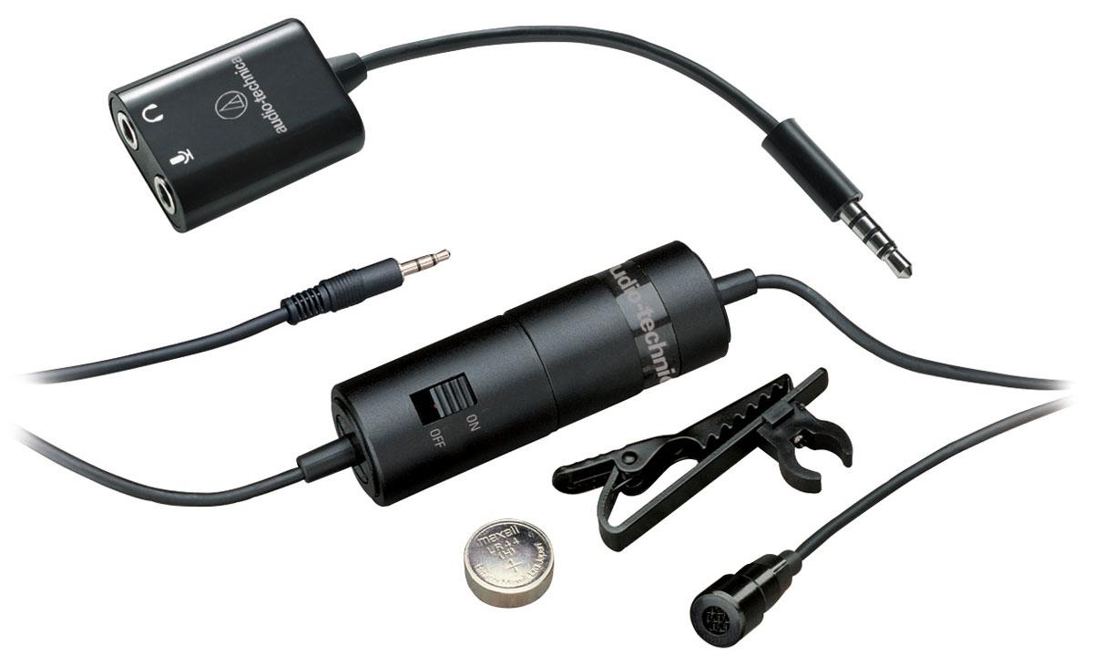 лучшая цена Audio-Technica ATR3350iS микрофон петличный