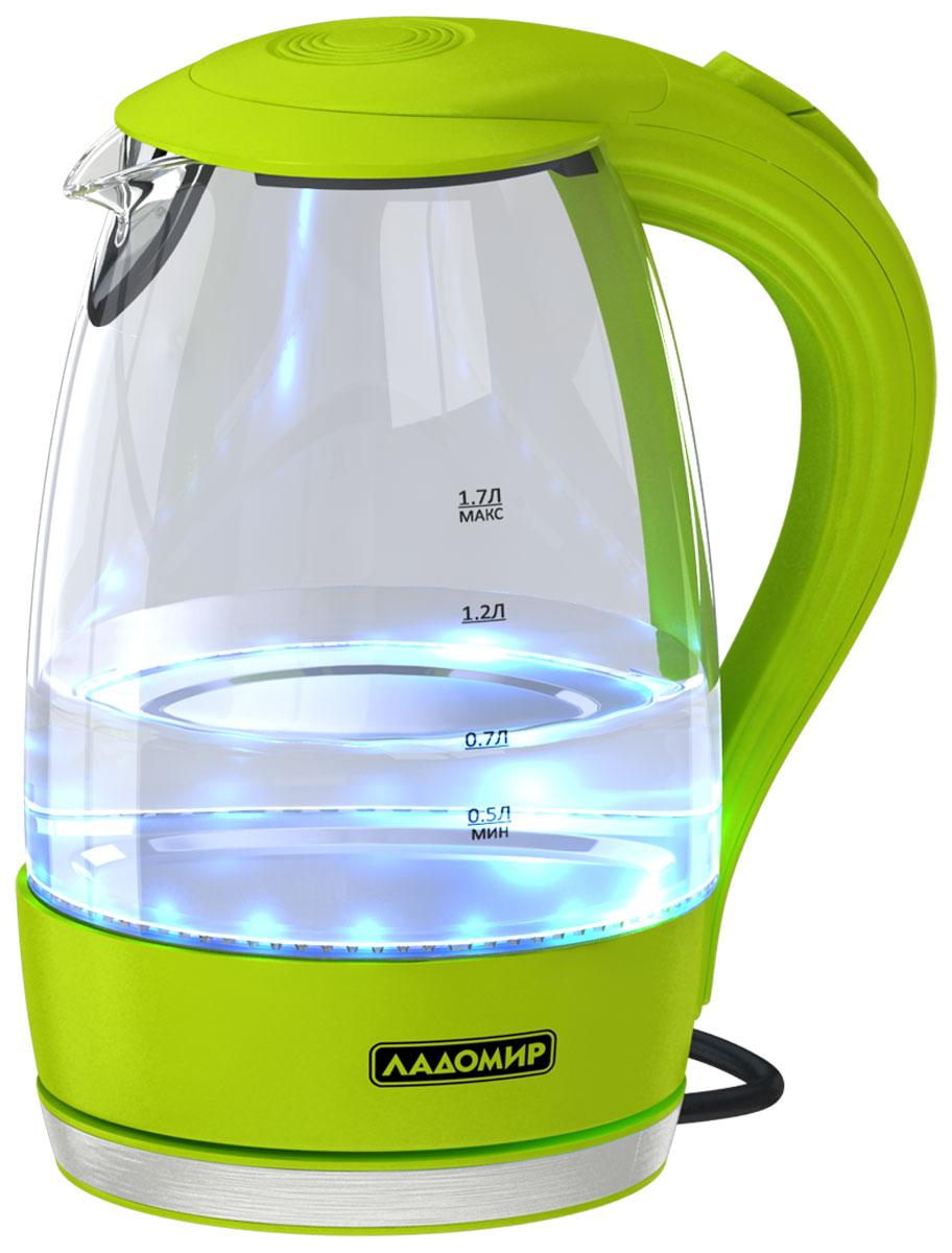 цена на Электрический чайник Ладомир 104, цвет зеленый