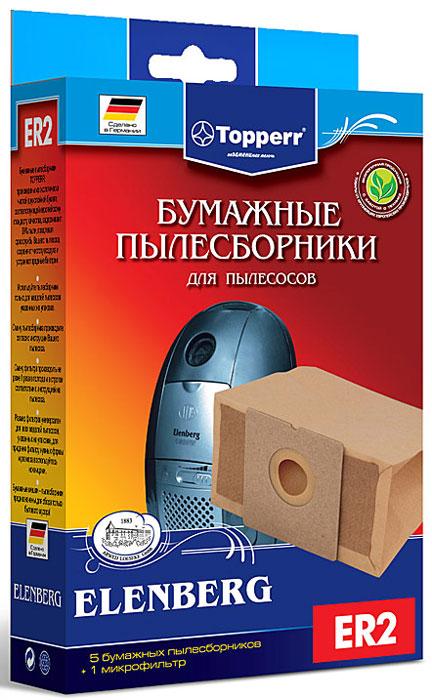Topperr ER 2 фильтр для пылесосовElenberg, 5 шт телевизор elenberg отзывы