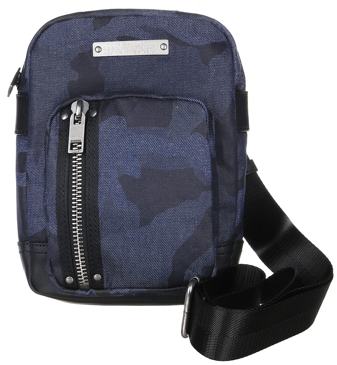 цена Сумка мужская Diesel, цвет: темно-синий, черный. X03778-P1106 онлайн в 2017 году