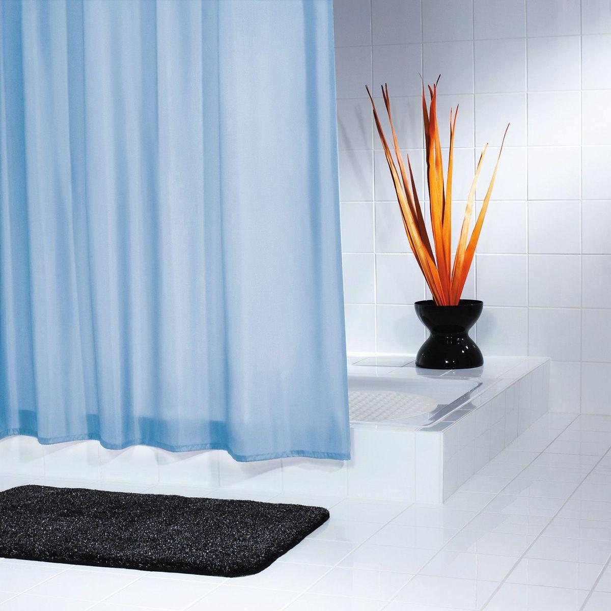 Штора для ванной комнаты Ridder Uni, цвет: голубой, 180 х 200 см