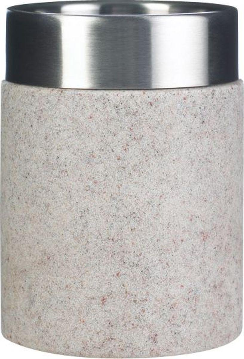 Стакан для ванной комнаты Ridder Stone, цвет: бежевый стакан для ванной комнаты ridder diamond цвет белый