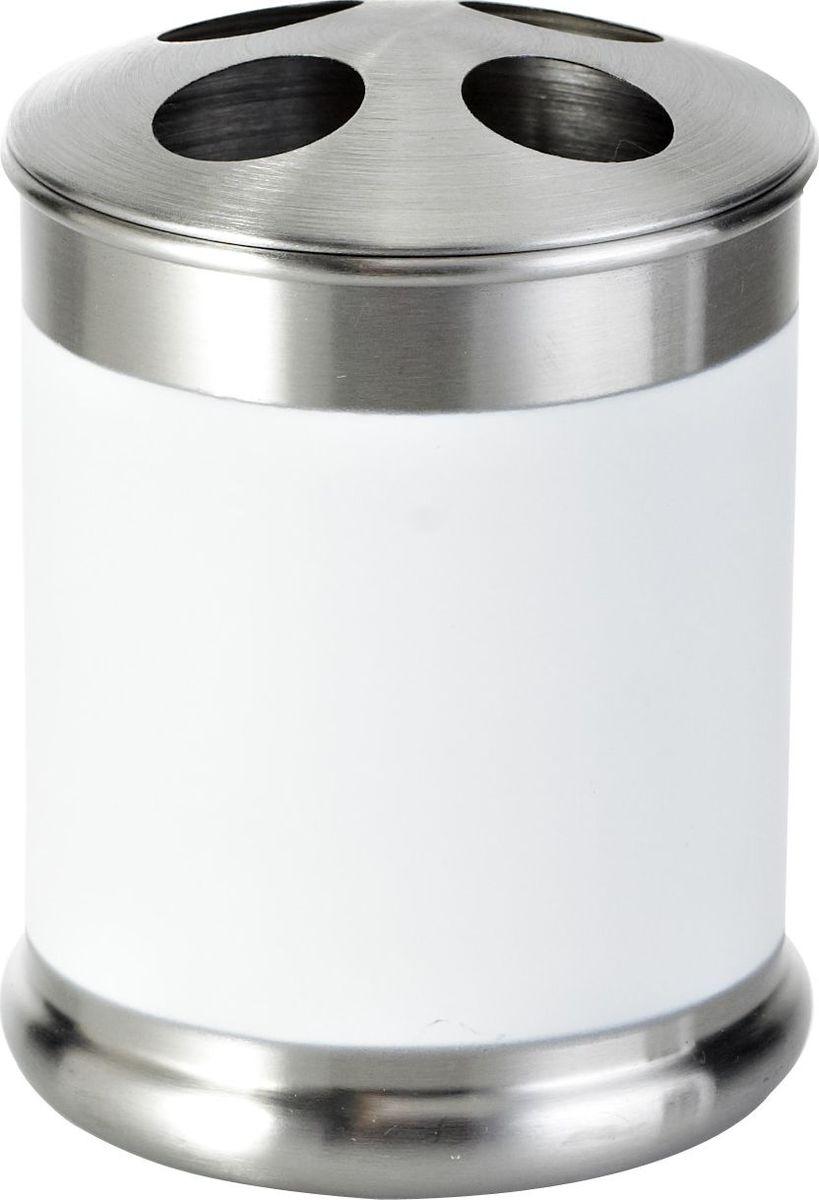 Стакан для зубных щеток Ridder Rondo, цвет: белый стакан для ванной комнаты ridder stone цвет бежевый