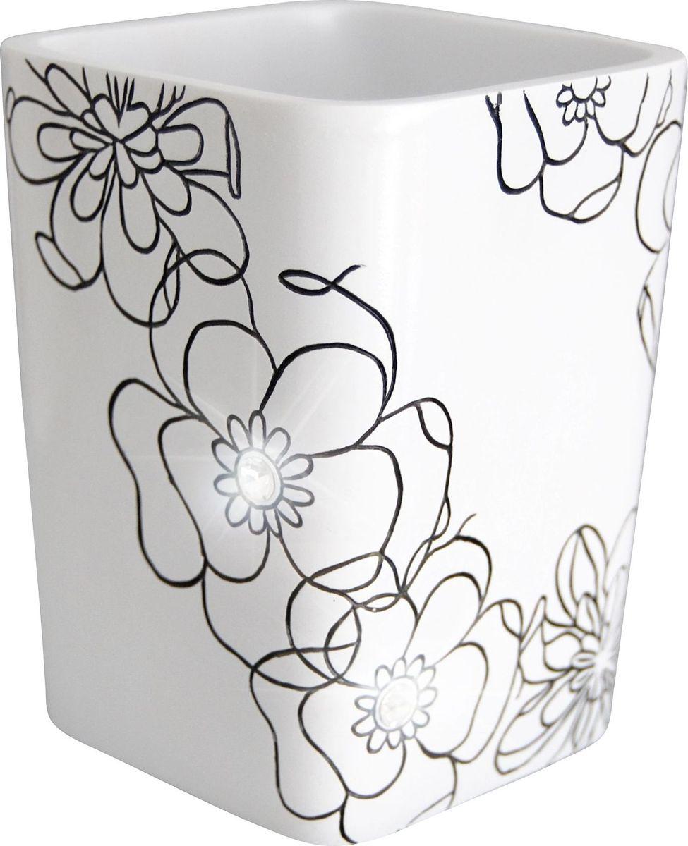 Стакан для ванной комнаты Ridder Diamond, цвет: белый стакан для ванной комнаты ridder diamond цвет белый