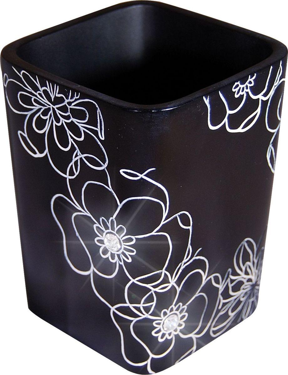Стакан для ванной комнаты Ridder Diamond, цвет: черный стакан для ванной комнаты ridder stone цвет бежевый