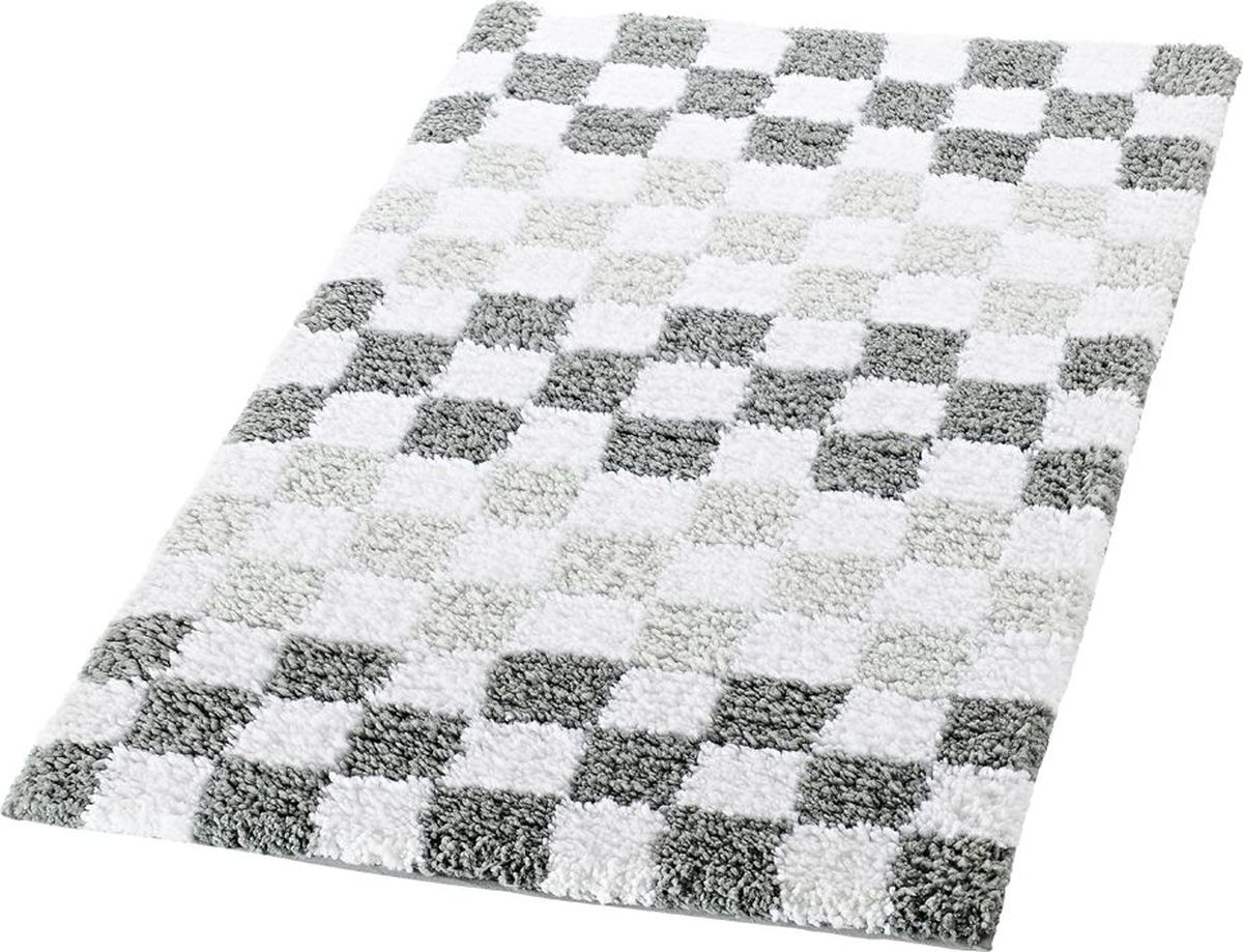 "Коврик для ванной Ridder ""Grand Prix"", цвет: серый, 55 х 85 см"
