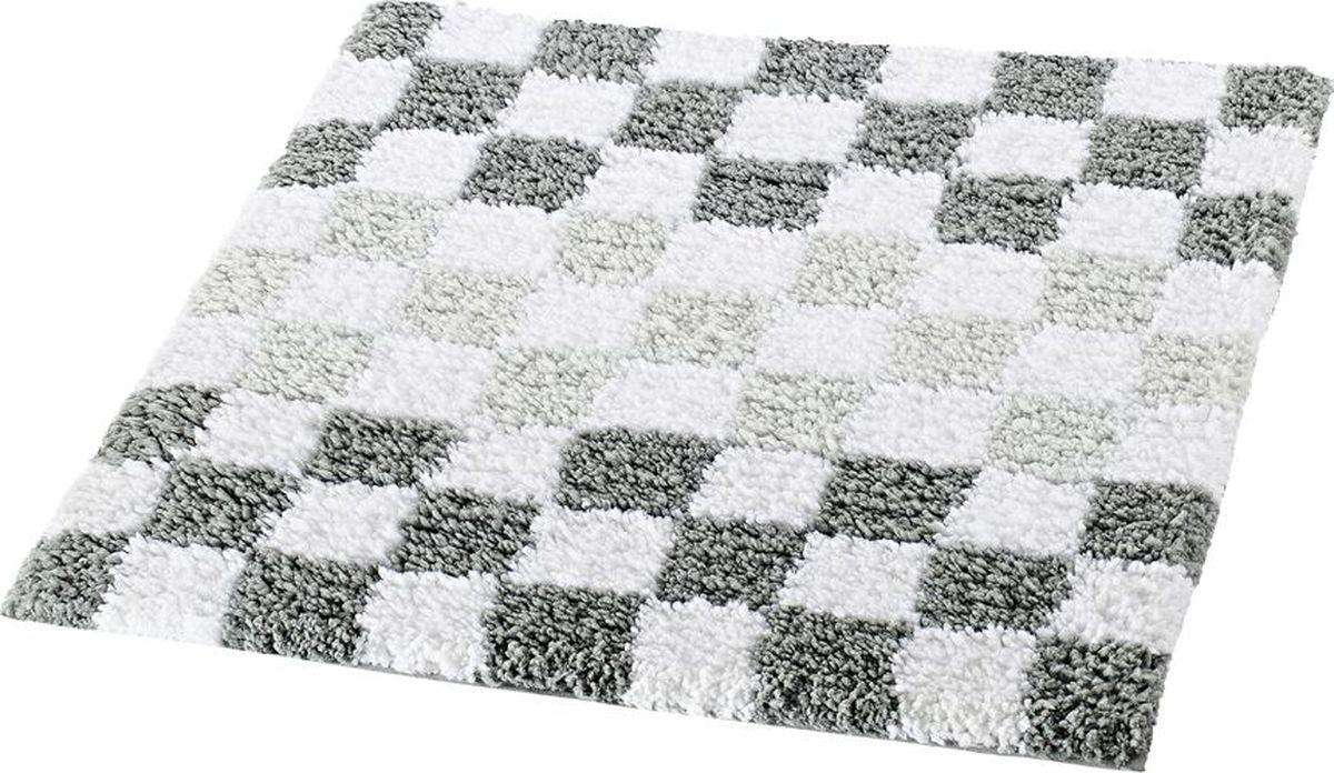 "Коврик для ванной Ridder ""Grand Prix"", цвет: серый, 55 х 50 см"