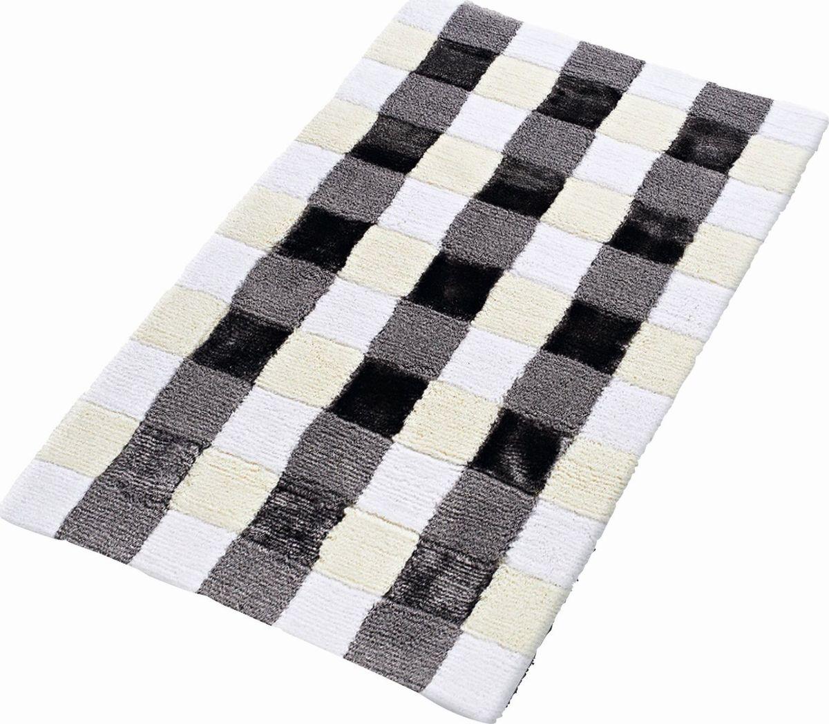 Коврик для ванной Ridder Carre, цвет: белый, черный, 70 х 120 см carre j the night manager