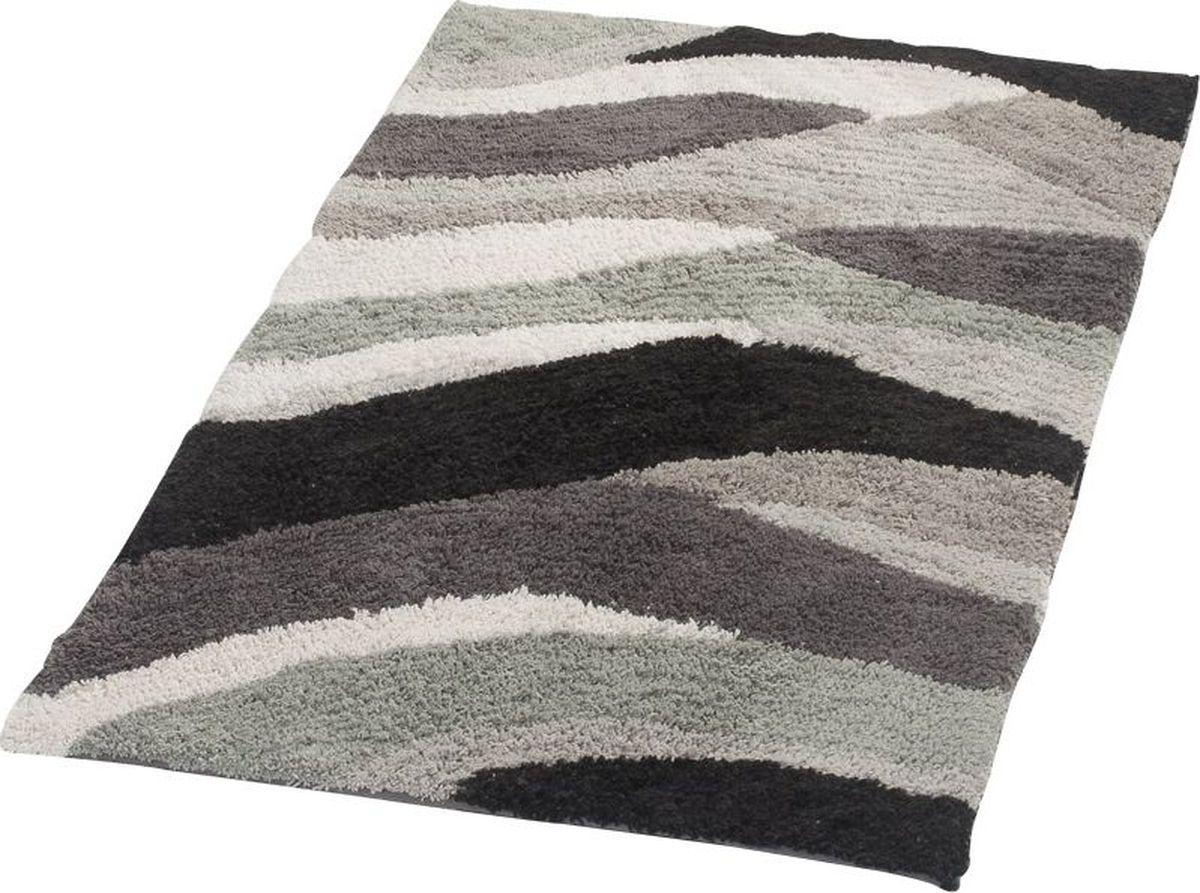 """Коврик для ванной Ridder """"Dune"""", двухсторонний, цвет: серый, 70 х 120 см"""