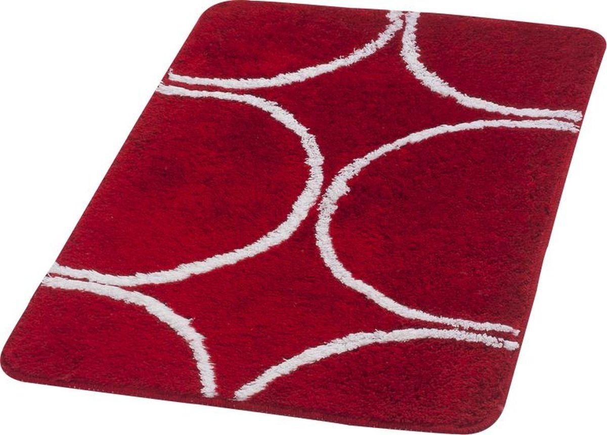 """Коврик для ванной Ridder """"Circle"""", цвет: красный, 70 х 120 см"""