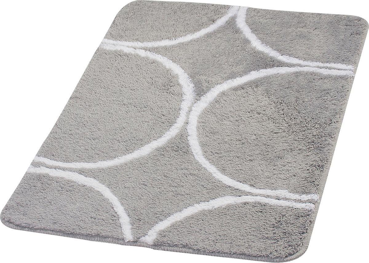 """Коврик для ванной Ridder """"Circle"""", цвет: серый, 70 х 120 см"""