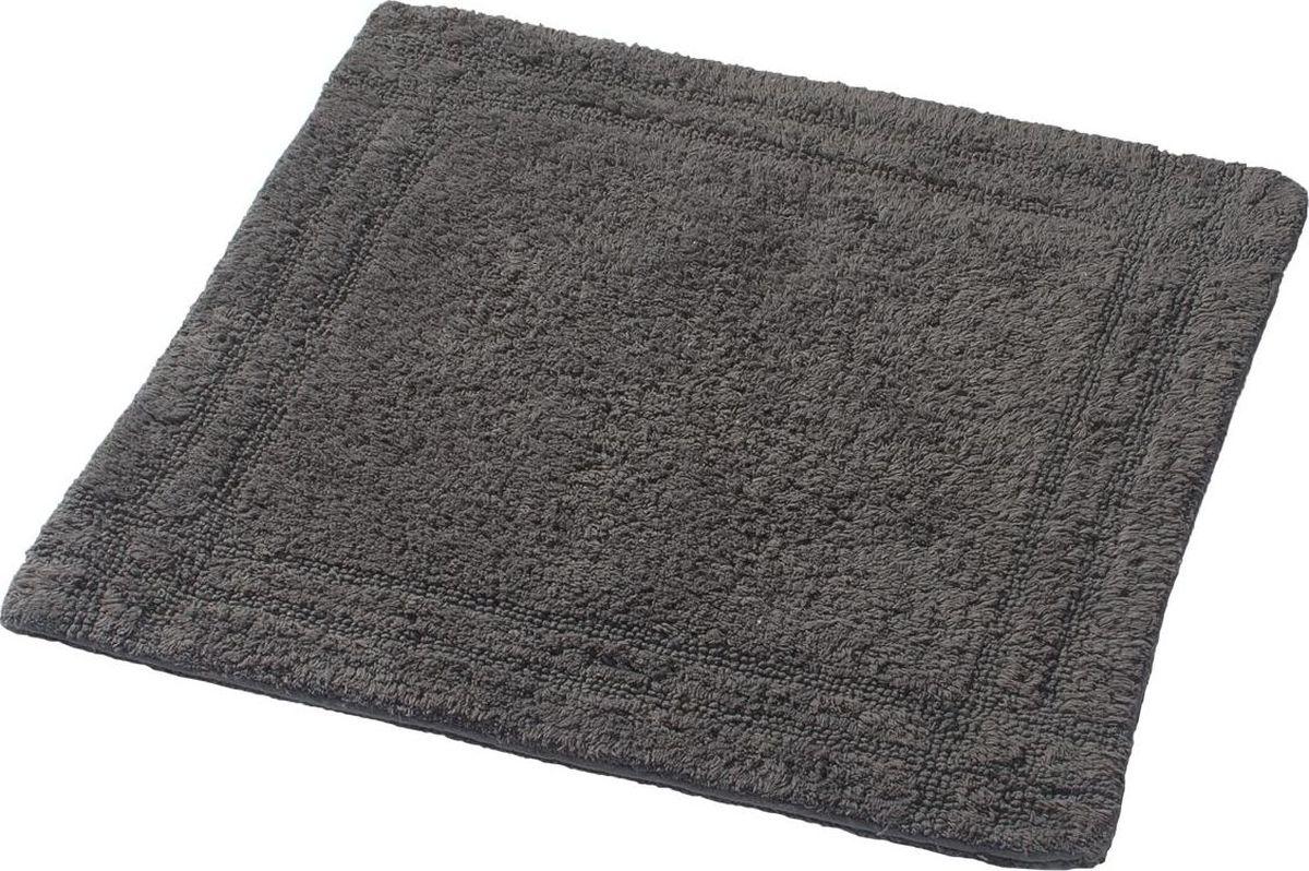 """Коврик для ванной Ridder """"Antigua"""", двухсторонний, цвет: серый, 60 х 60 см"""