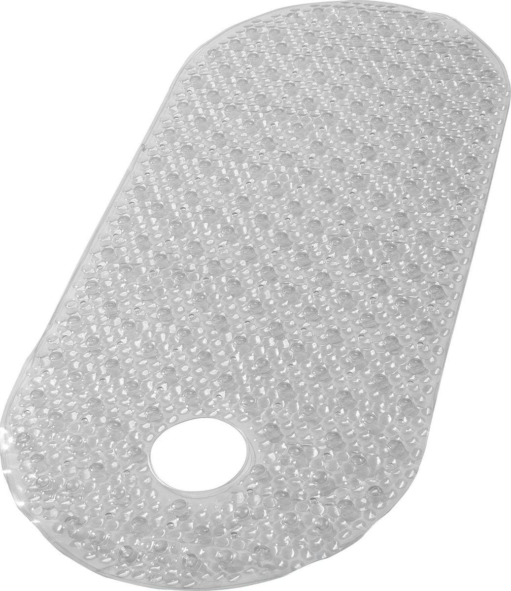 """Коврик для ванной Ridder """"Lense"""", противоскользящий, на присосках, цвет: прозрачный, 38 х 88 см"""