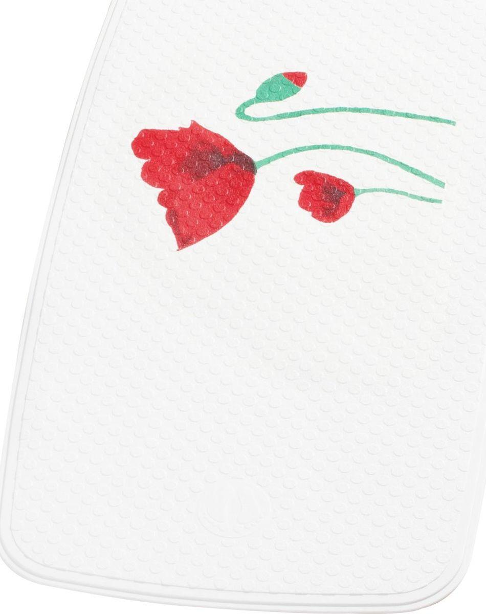 """Коврик для ванной Ridder """"Mohn"""", противоскользящий, на присосках, цвет: красный, 38 х 72 см"""