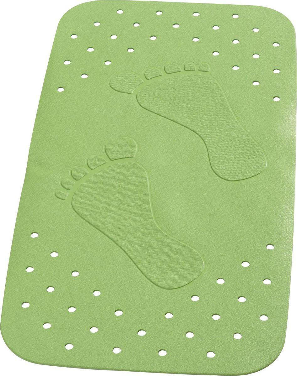"""Коврик для ванной Ridder """"Plattfuss"""", противоскользящий, на присосках, цвет: зеленый, 38 х 72 см"""